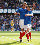 Lee McCulloch celebrates his goal with Fraser Aird