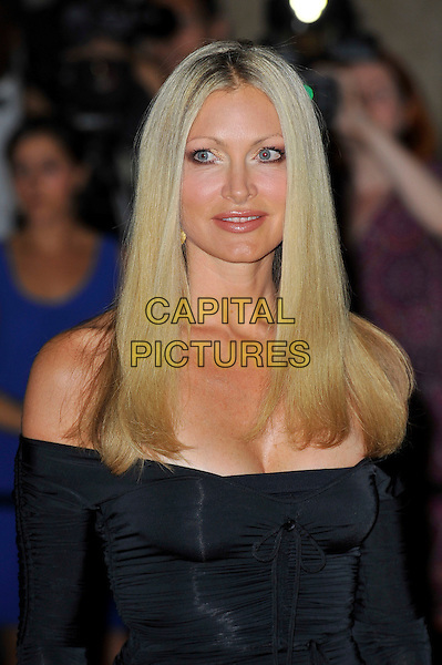 Caprice Bourret.Sports for Peace - Honouring and celebrating Muhammad Ali held at the Victoria and Albert Museum, Kensington, London, England..July 25th 2012.V&A headshot portrait black off the shoulder cleavage .CAP/MAR.© Martin Harris/Capital Pictures.