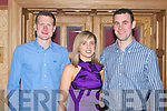 SOCIAL: Enjoying the St Patrick's GAA annual social at the Meadowlands hotel on Saturday l-r: Liam Poff, Blennerville, Catherine O'Shea, Sneem and Sean Haley.