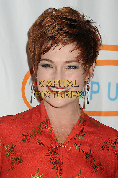 Carolyn Hennesy.12th Annual Lupus LA Orange Ball held at the Beverly Wilshire Hotel, Beverly Hills, California, USA..May 24th, 2012.headshot portrait red gold print.CAP/ADM/BP.©Byron Purvis/AdMedia/Capital Pictures.