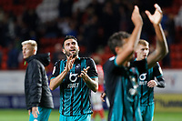 Borja Baston of Swansea City thanks away supporters during the Sky Bet Championship match between Charlton Athletic and Swansea City at The Valley, London, England, UK. Wednesday 02 October 2019