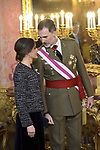 King Felipe VI of Spain and Queen Letizia of Spain attends to Pascua Militar at Royal Palace in Madrid, Spain. January 06, 2019. (ALTERPHOTOS/Pool)