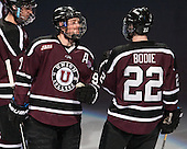 Mat Bodie (Union - 22) joins Daniel Carr (Union - 9) on the blue line after being announced as a starter for the Dutchmen.<br />  - The Union College Dutchmen defeated the University of Minnesota Golden Gophers 7-4 to win the 2014 NCAA D1 men's national championship on Saturday, April 12, 2014, at the Wells Fargo Center in Philadelphia, Pennsylvania.