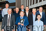Former Fianna Fail Minister John O'Leary with his seven sons at the launch of his autobiography On the Doorsteps in the INEC on Friday night l-r: Denis, Desmond, Donal, Rory, John, Tom and Brian with Myles (his grandson)