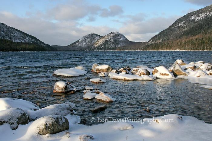 Winter at Jordan Pond & the Bubbles  #A16