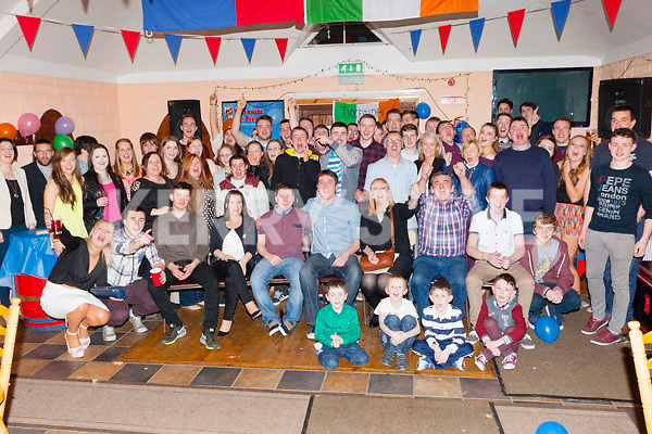 Damian Kissane Lixnaw and Paul butler Ballymac celebrated their 21st birthday with their family and friends in Castleisland Rugby club on Saturday night