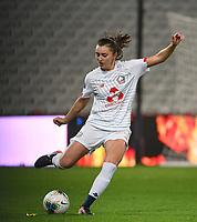20191102 - LENS , FRANCE : LOSC's Eva Fremaux pictured during the female soccer match between Arras Feminin and Lille OSC feminin, on the 8th matchday in the French Women's Ligue 2 – D2 at the Stade Bollaert Delelis stadium , Lens . Saturday 2 November 2019 PHOTO DAVID CATRY | SPORTPIX.BE