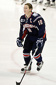 Amy Hollstein (UConn - 10) - The University of Connecticut Huskies defeated the Northeastern University Huskies 4-1 in Hockey East quarterfinal play on Saturday, February 27, 2010, at Matthews Arena in Boston, Massachusetts.
