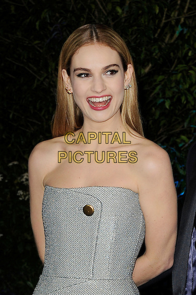 LONDON, ENGLAND - MARCH 19: Lily James attending the 'Cinderella' UK Premiere at Odeon Cinema, Leicester Square on March 19, 2015 in London, England<br /> CAP/MAR<br /> &copy; Martin Harris/Capital Pictures