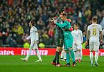 Real Madrid CF's Tibaut Courtois  and FC Barcelona's goalkeeper Ter Stegen salutes after La Liga match. Mar 01, 2020. (ALTERPHOTOS/Manu R.B.)