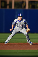 Indiana State Sycamores shortstop Tyler Friis (3) during a game against the Vanderbilt Commodores on February 20, 2015 at Charlotte Sports Park in Port Charlotte, Florida.  Vanderbilt defeated Indiana State 3-2.  (Mike Janes/Four Seam Images)