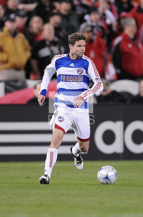 FC Dallas defender Drew Moor (3)   DC United defeated FC Dallas 2-0 in the first home game of the US Open Cup title at RFK Stadium, Wednesday April 22, 2009.