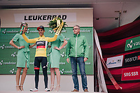 Richie Porte (AUS/BMC) takes over the yellow jersey  of teammate stefan K&uuml;ng &amp; thus is the new GC leader<br /> <br /> Stage 5: Gstaad &gt; Leukerbad (155km)<br /> 82nd Tour de Suisse 2018 (2.UWT)