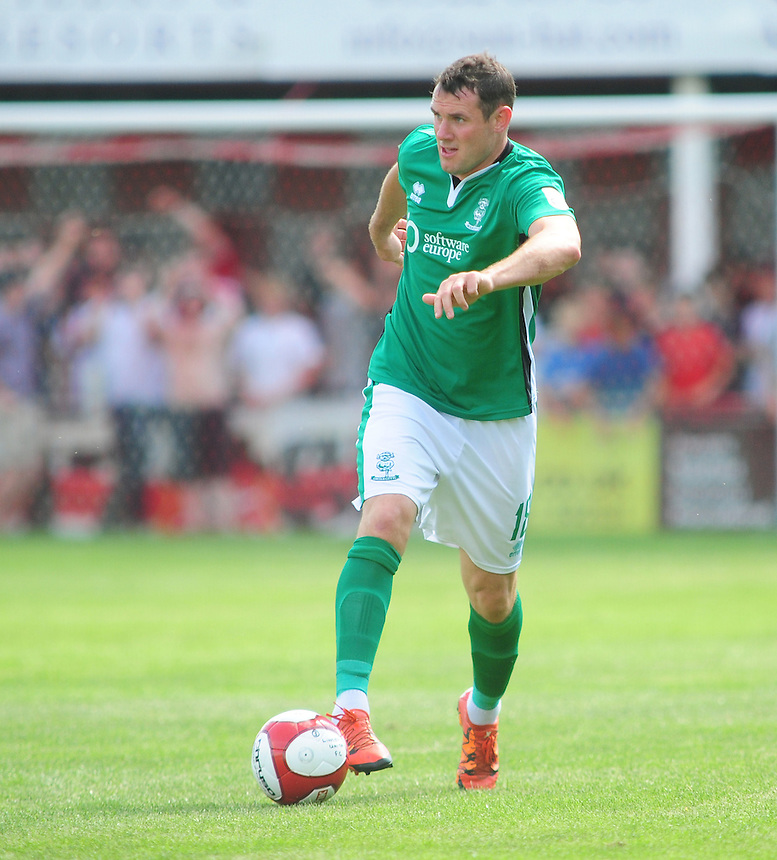 Lincoln City's Lee Beevers<br /> <br /> Photographer Andrew Vaughan/CameraSport<br /> <br /> Football - Lincolnshire FA County Senior Cup supported by Bluefin Sport - Lincoln United v Lincoln City - Saturday 23rd July 2017 - Sun Hat Villas and Resorts Stadium - Lincoln<br /> <br /> World Copyright &copy; 2016 CameraSport. All rights reserved. 43 Linden Ave. Countesthorpe. Leicester. England. LE8 5PG - Tel: +44 (0) 116 277 4147 - admin@camerasport.com - www.camerasport.com