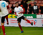 George Baldock of Sheffield Utd warm up in heads up t-shirt during the Premier League match at Bramall Lane, Sheffield. Picture date: 9th February 2020. Picture credit should read: Simon Bellis/Sportimage