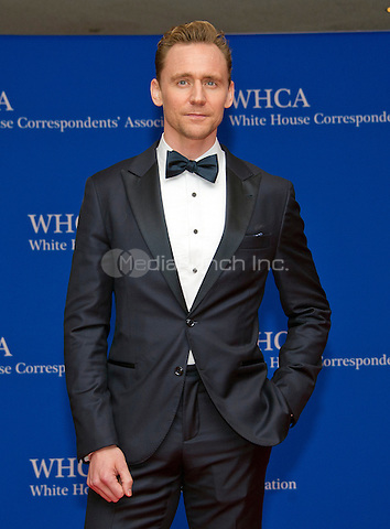 Actor Tom Hiddleston arrives for the 2016 White House Correspondents Association Annual Dinner at the Washington Hilton Hotel on Saturday, April 30, 2016.<br /> Credit: Ron Sachs / CNP<br /> (RESTRICTION: NO New York or New Jersey Newspapers or newspapers within a 75 mile radius of New York City)/MediaPunch