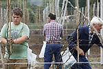 Foto: VidiPhoto<br /> <br /> RHENEN &ndash; Met behulp van fruittelers uit het Betuwse IJzendoorn, worden in het gebied de Nude tussen Rhenen en Wageningen maandag de laatste van 4800 jonge perenbomen geplaatst. Dankzij de hoge fruitprijzen van het afgelopen seizoen, is er bij veel fruittelers weer ruimte om te investeren in het bedrijf. Ook voor het komende jaar zijn de verwachtingen hoog gespannen. Door de uitbreiding met 2 ha. peren (Alexander Lucas) komt het totaal areaal van het gemengde fruitbedrijf (kersen, aardbeien, appels en peren) van Leccius de Ridder Fruitexploitatie op 12 ha. Enkele jaren geleden is het fruitbedrijf al uitgebreid met een nieuwe appelboomgaard. Beheerder van het fruit is teler Hans van Eldik uit Kesteren. De jonge perenbomen worden geleverd door Verbeek Boomkwekerijen BV in Steenbergen.