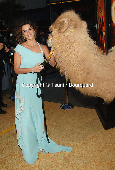 Penelope Cruz arriving at the SAHARA Premiere at the Chinese Theatre in Los Angeles. April 4, 2004.