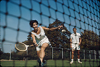 Tennis at Rockaway Hunting Club, Lawrence, NY 1965. Photographer John G. Zimmerman.