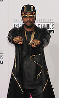 LOS ANGELES, CA - NOVEMBER 18: Willi.i.am attends the 40th Anniversary American Music Awards held at Nokia Theatre L.A. Live on November 18, 2012 in Los Angeles, California.PAP1112JP313..PAP1112JP313..