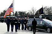 The flag-draped casket of former President George H.W. Bush is carried by a joint services military honor guard to Special Air Mission 41, Wednesday, Dec. 5, 2018, at Andrews Air Force Base, Md. <br /> Credit: Alex Brandon / Pool via CNP