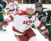 Alex Biega (Harvard - 3), Scott Fleming (Dartmouth - 17) - The Harvard University Crimson defeated the Dartmouth College Big Green 4-1 (EN) on Monday, January 18, 2010, at Bright Hockey Center in Cambridge, Massachusetts.