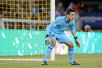 San Jose, CA - Saturday September 16, 2017: Andrew Tarbell during a Major League Soccer (MLS) match between the San Jose Earthquakes and the Houston Dynamo at Avaya Stadium.