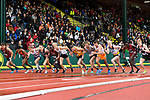 EUGENE, OR - JUNE 8: Runners compete in the 5000 meter run during the Division I Men's Outdoor Track & Field Championship held at Hayward Field on June 8, 2018 in Eugene, Oregon. (Photo by Jamie Schwaberow/NCAA Photos via Getty Images)