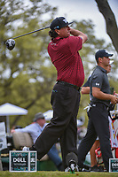 Pat Perez (USA) watches his tee shot on 12 during day 3 of the World Golf Championships, Dell Match Play, Austin Country Club, Austin, Texas. 3/23/2018.<br /> Picture: Golffile | Ken Murray<br /> <br /> <br /> All photo usage must carry mandatory copyright credit (&copy; Golffile | Ken Murray)