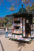Portugal, Madeira, Kiosk in der Avenida Ariaga in Funchal