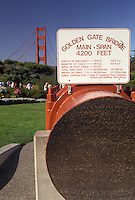 AJ3770, Golden Gate, The Golden Gate Bridge, San Francisco, California, A display of the Main-Span of The Golden Gate Bridge in San Francisco in the state of California.