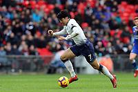 Son Heung-Min of Tottenham Hotspur during Tottenham Hotspur vs Leicester City, Premier League Football at Wembley Stadium on 10th February 2019