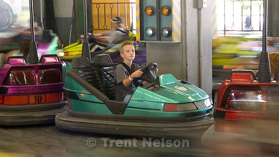 Nathaniel Nelson bumper cars at the Santa Cruz Beach Boardwalk