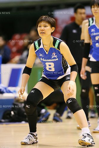 Rika Nomoto (Springs), <br /> DECEMBER 13, 2013 - Volleyball : <br /> 2013 Emperor's Cup and Empress's Cup <br /> All Japan Volleyball Championship women's match <br /> between Hisamitsu Springs 3-1 Hitachi Rivale <br /> at Tokyo Metropolitan Gymnasium, Tokyo, Japan. <br /> (Photo by YUTAKA/AFLO SPORT)