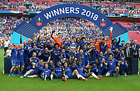 Winners Chelsea<br /> <br /> Photographer Rob Newell/CameraSport<br /> <br /> Emirates FA Cup Final - Chelsea v Manchester United - Saturday 19th May 2018 - Wembley Stadium - London<br />  <br /> World Copyright &copy; 2018 CameraSport. All rights reserved. 43 Linden Ave. Countesthorpe. Leicester. England. LE8 5PG - Tel: +44 (0) 116 277 4147 - admin@camerasport.com - www.camerasport.com