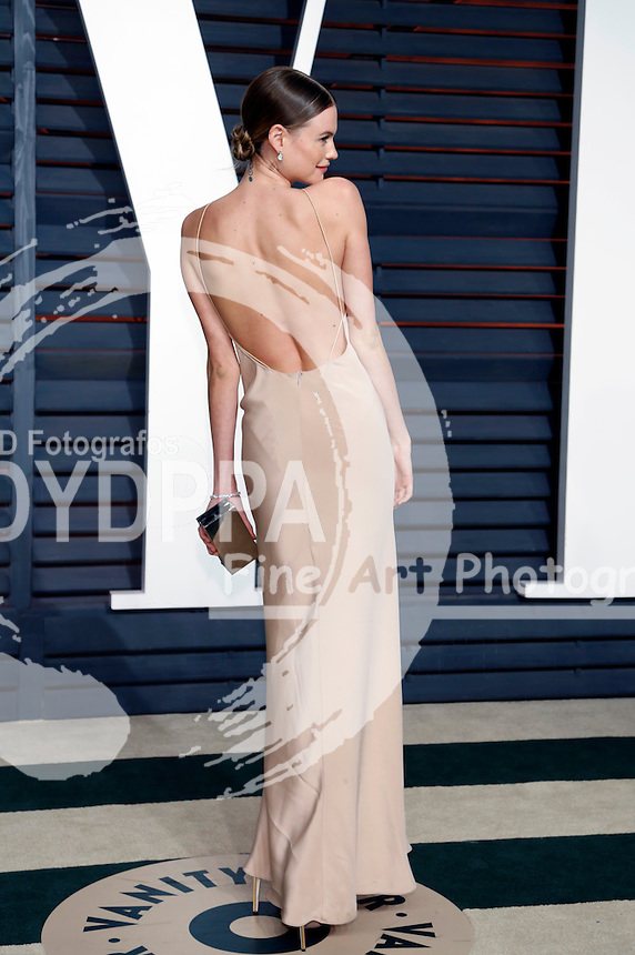 Behati Prinsloo attending the Vanity Fair Oscar Party 2015 on February 22, 2015 in Beverly Hills, California.