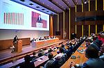 UTRECHT _ Algemene Ledenvergadering Utrecht, van de KNHB.  KNHB voorzitter Erik Cornelissen.   COPYRIGHT KOEN SUYK