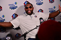 Canton, OH - August 3, 2018:  Former NFL linebacker Ray Lewis holds a media availability during the 2018 Pro Football Hall of Fame Enshrinement Week, August 3, 2018. Lewis became the first player in NFL history with 40 sacks and 30 career interceptions (Photo by Don Baxter/Media Images International)