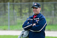 18 April 2006: MLB representative is seen during the third of seven 2006 MLB European Academy Try-out Sessions throughout Europe, at Stade Pershing, INSEP, near Paris, France. Try-out sessions are run by members of the Major League Baseball Scouting Bureau with assistance from MLBI staff.