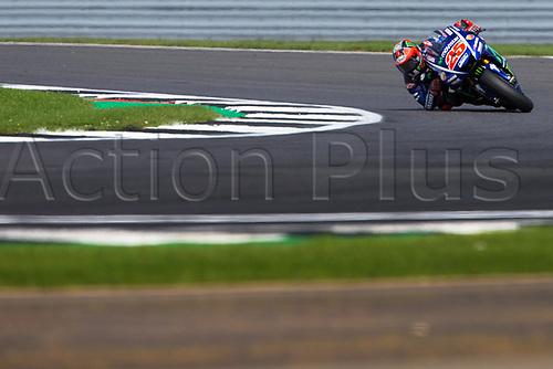 26th August 2017, Silverstone Circuit, Northamptonshire, England; British MotoGP, Qualifying; Movistar Yamaha MotoGP MotoGP rider Maverick Vinales at Chapel curve
