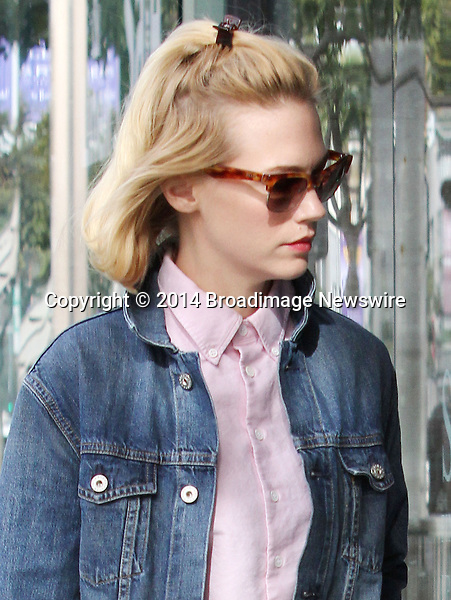 Pictured: January Jones<br /> Mandatory Credit &copy; Patron/Broadimage<br /> January Jones does soe shopping in Beverly Hills<br /> <br /> 1/28/14, Beverly Hills, California, United States of America<br /> <br /> Broadimage Newswire<br /> Los Angeles 1+  (310) 301-1027<br /> New York      1+  (646) 827-9134<br /> sales@broadimage.com<br /> http://www.broadimage.com