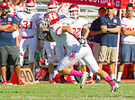 Palos Verdes, CA 10/21/16 - Julian Woodard (Redondo Union #1) in action during the CIF Southern Section Bay League Redondo Union - Palos Verdes Peninsula game at Peninsula High School.