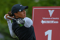 Cheyenne Woods (USA) watches her tee shot on 1 during round 1 of  the Volunteers of America LPGA Texas Classic, at the Old American Golf Club in The Colony, Texas, USA. 5/4/2018.<br /> Picture: Golffile | Ken Murray<br /> <br /> <br /> All photo usage must carry mandatory copyright credit (&copy; Golffile | Ken Murray)