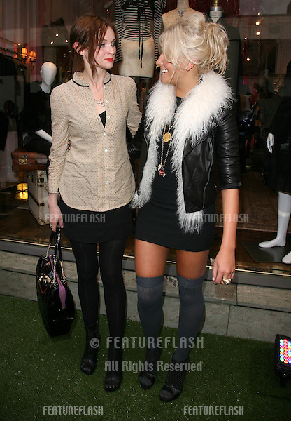 Pixie Lott and Sophie Ellis Bextor attending Fashion's Night Out: Juicy Couture Party, at the Juicy Couture Store, London. 08/09/2010  Piicture by: Alexandra Glen / Featureflash