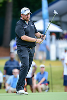 Shane Lowry (IRL) watches his putt on 10 during Sunday's final round of the PGA Championship at the Quail Hollow Club in Charlotte, North Carolina. 8/13/2017.<br /> Picture: Golffile | Ken Murray<br /> <br /> <br /> All photo usage must carry mandatory copyright credit (&copy; Golffile | Ken Murray)