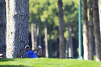 Adrian Otaegui (ESP) plays his 2nd shot on the 3rd hole during Saturday's Round 3 of the 2018 Turkish Airlines Open hosted by Regnum Carya Golf &amp; Spa Resort, Antalya, Turkey. 3rd November 2018.<br /> Picture: Eoin Clarke | Golffile<br /> <br /> <br /> All photos usage must carry mandatory copyright credit (&copy; Golffile | Eoin Clarke)