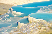 Photo & Image  of Pamukkale Travetine Terrace, Turkey. Picture of the white Calcium carbonate rock formations. Buy as stock photos or as photo art prints. 5 Pamukkale travetine terrace water cascades, composed of white Calcium carbonate rock formations, Pamukkale, Anatolia, Turkey