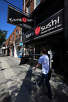 Toronto (ON) CANADA - July 2012 - Queen street west -suchi
