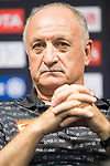 Guangzhou Evergrande FC head coach Luiz Felipe Scolari reacts during Pre-Match Press Conference and Training Session prior to the AFC Champions League 2017 Quarter-Finals match between Shanghai SIPG (CHN) and Guangzhou Evergrande (CHN) at the Shanghai Stadium on 21 August 2017 in Shanghai, China. Photo by Yu Chun Christopher Wong / Power Sport Images