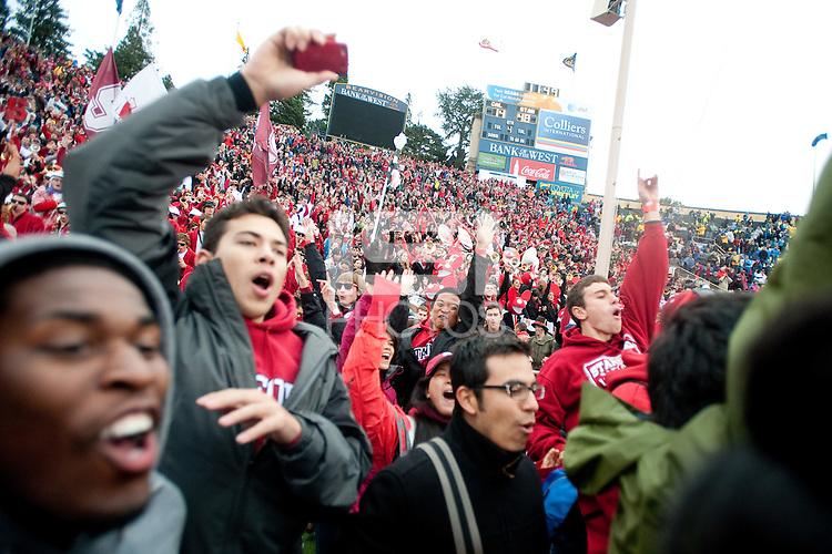 BERKELEY, CA - November 20, 2010: Fans during the Big Game against Cal in Berkeley, California. Stanford won 48-14.